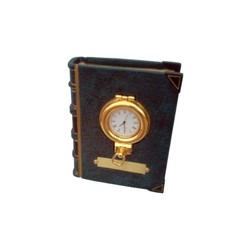 Книжный шкаф с часами в латунном portole 13x10x5cm