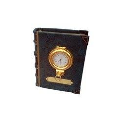 Fermalibri con orologio in ottone oblò 13x10x5cm