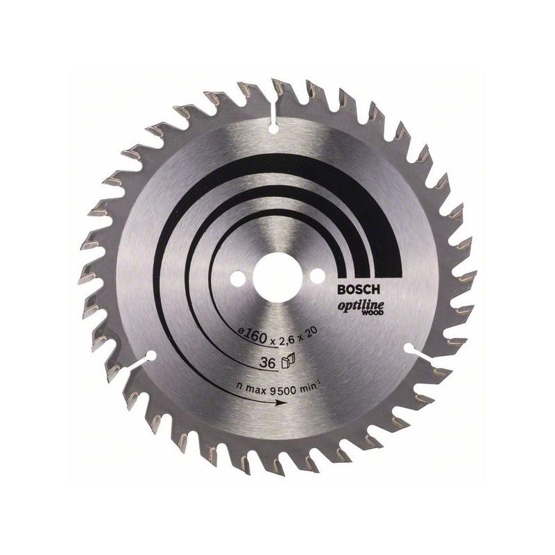 BOSCH-circular Saw Blade Optiline Wood 160x20/16x2,6mm 36