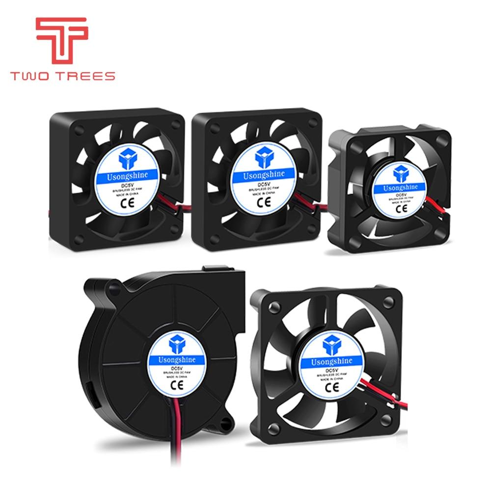 3010 4010 4020 5010 5015 12V 24V Cooling Turbo Fan Brushless 3D Printer Parts 2Pin For Extruder DC Cooler Blower Fans