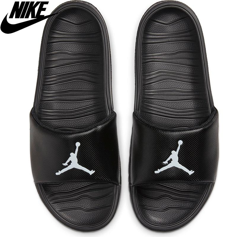 Nike-zapatillas Originales Jordan Break Slide Para Hombre, Zapatillas De Baloncesto De Color Negro, AR6374-010, Informales, Elegantes, De Moda, De Verano