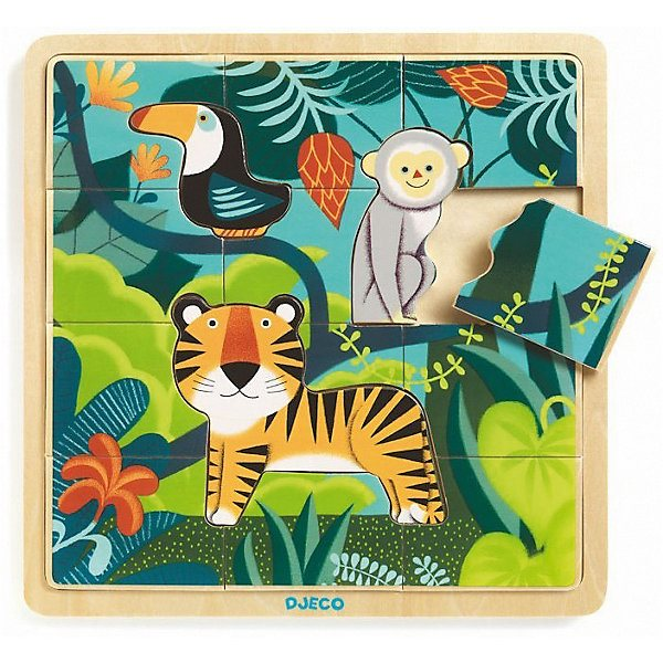 Wooden Puzzle DJECO \Jungle\ MTpromo wooden puzzle djeco autumn in the woods