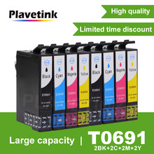 Cartouches d'encre complètes pour imprimante Epson Stylus, 2 jeux, pour CX5000 CX6000 CX7000F CX7450 CX8400 CX9400 t0691-4