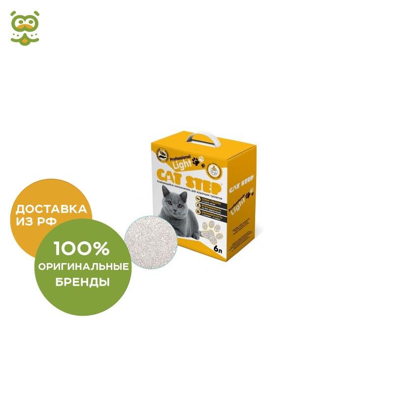 Cat Step Filler Professional Light, bentonite crumpling (6 l), 6 l.