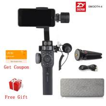 Zhiyun Smooth4 gładka 4 3-Axis Handheld stabilizator gimbal do smartfona kamera akcji iPhone X 8 Gopro Hero 5 sjcam YI zestaw mic(China)