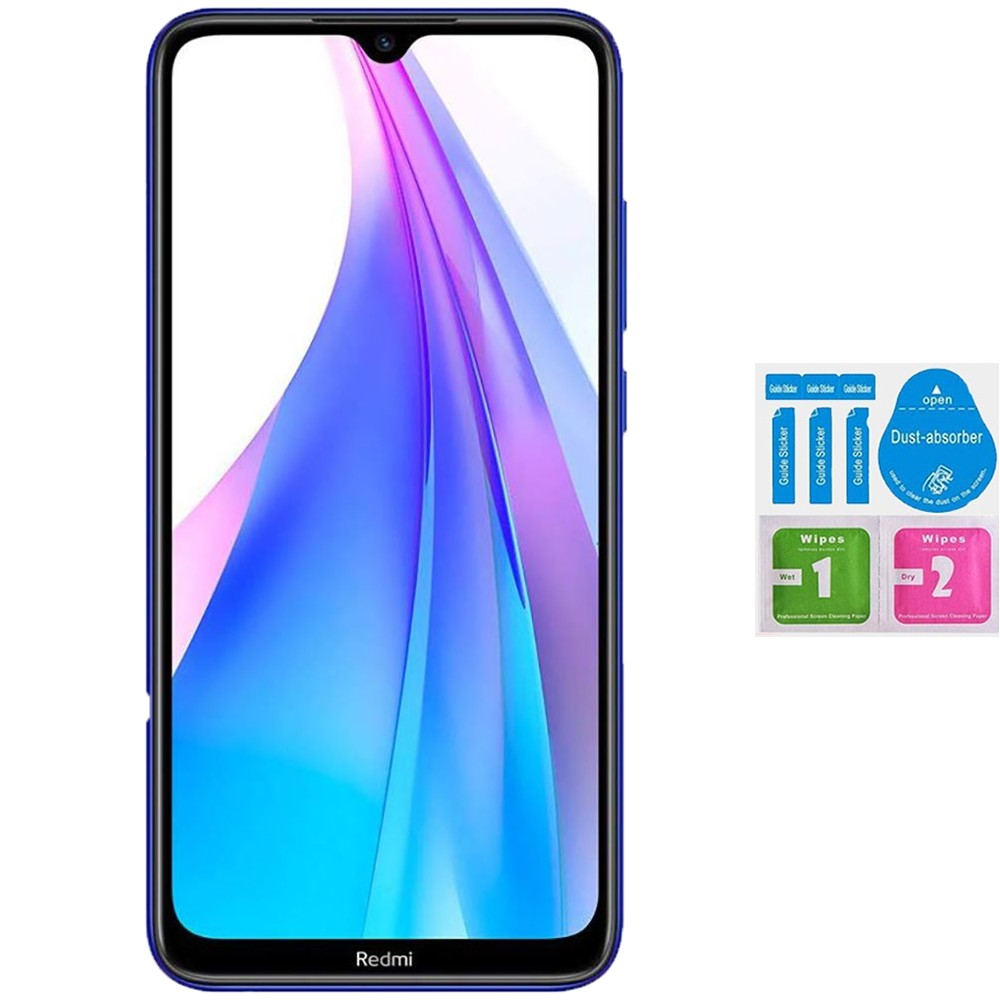 Protector Screen Tempered Glass For For XIAOMI Note Redmi 8T (Generico, Not Full SEE INFO) KIT
