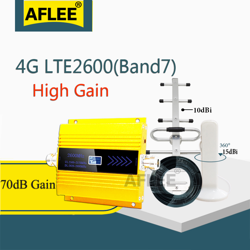 2020 New!! 2600Mhz 4G Network Cellular Amplifier LTE 2600 4G Data Mobile Signal Booster CellPhone 4G Amplifier GSM Repeater 4G