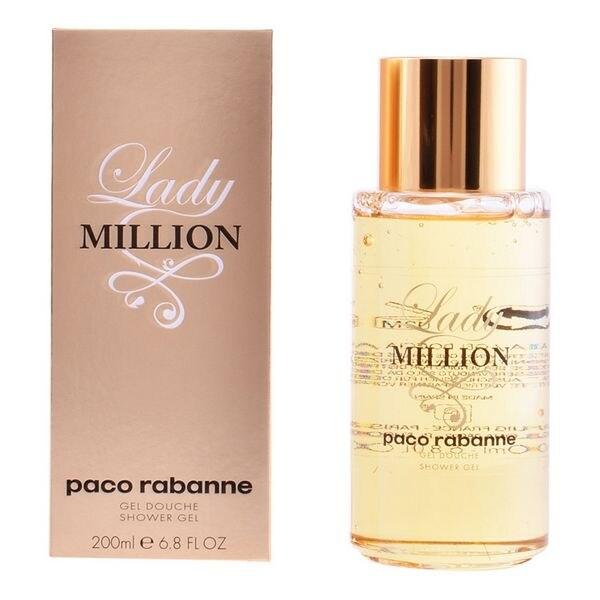 Shower Gel Lady Million Paco Rabanne (200 Ml)
