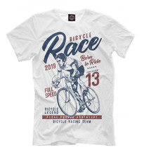 Males's T-shirt bike racing