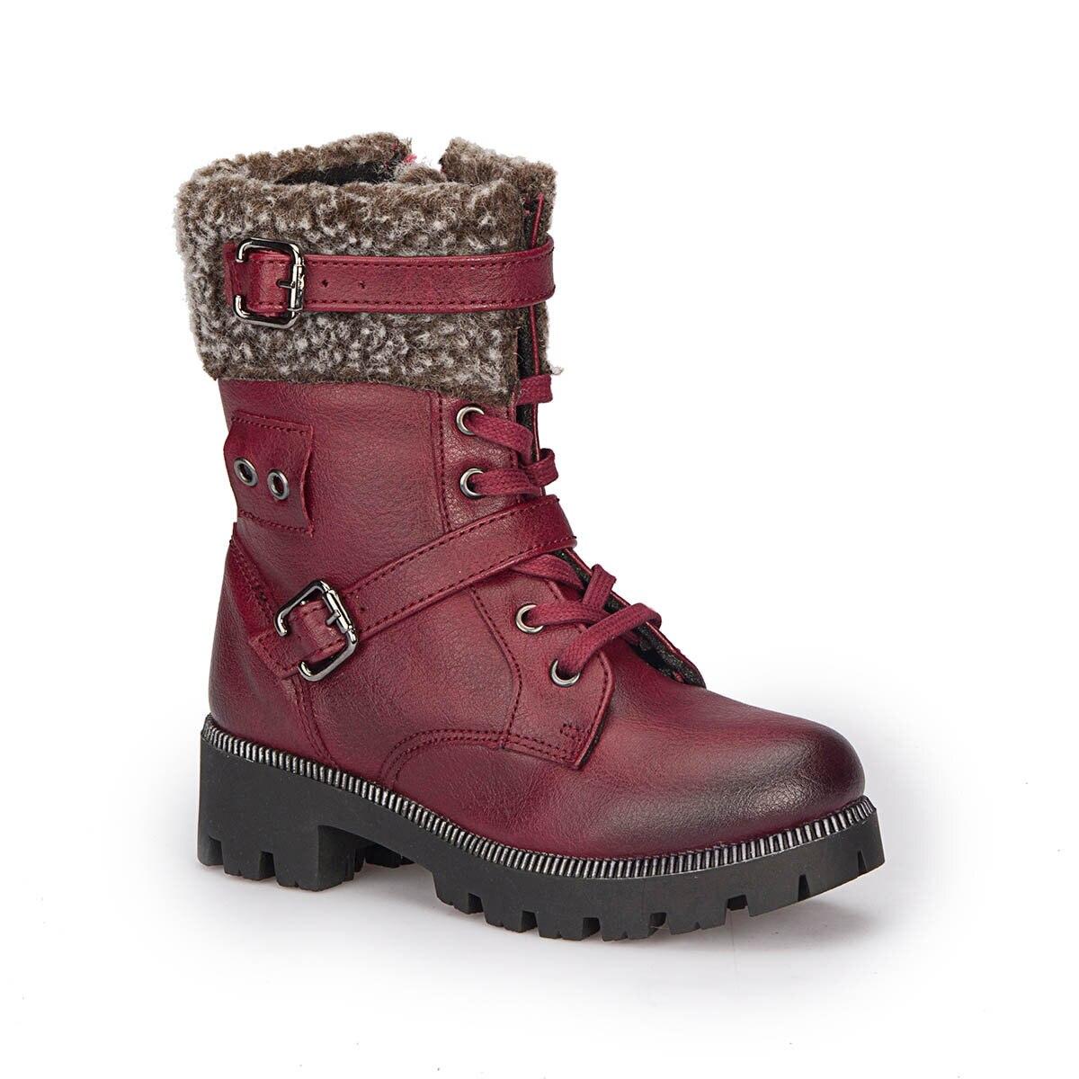 FLO 72.508486.P Burgundy Female Child Boots Polaris