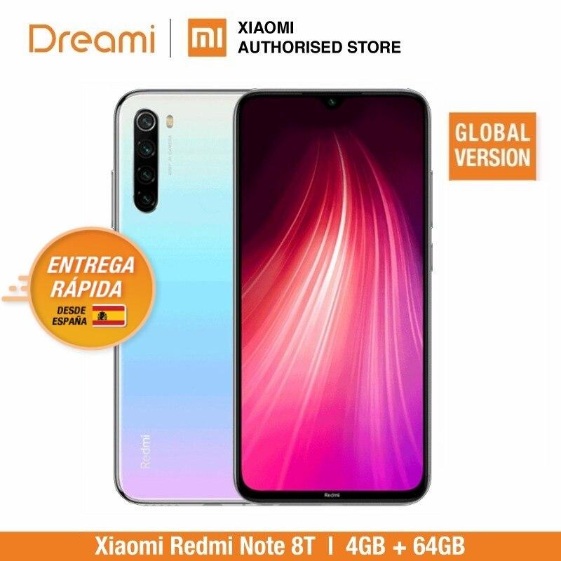 Versión Global Xiaomi Redmi Note 8T 64GB ROM 4GB RAM (Nuevo y sellado) Note 8 t note8t, note8, Teléfono Movil Versión Global Redmi Note 8 64GB ROM 4GB RAM, ROM Oficial (Nuevo y Sellado) note8 64gb Teléfono Móvil