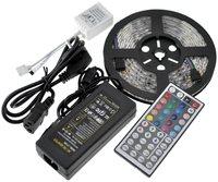 Светодиодная лента RGB 5 м 300 Led SMD 5050 + 44 клавиши + адаптер 12В 5А