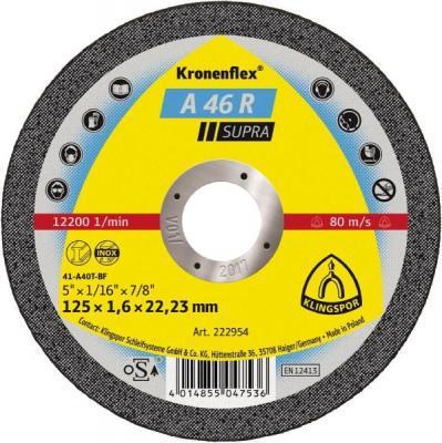 Circle Cutting KLINGSPOR 125х1. 6x22 Kronenflex A 46 R SUPRA