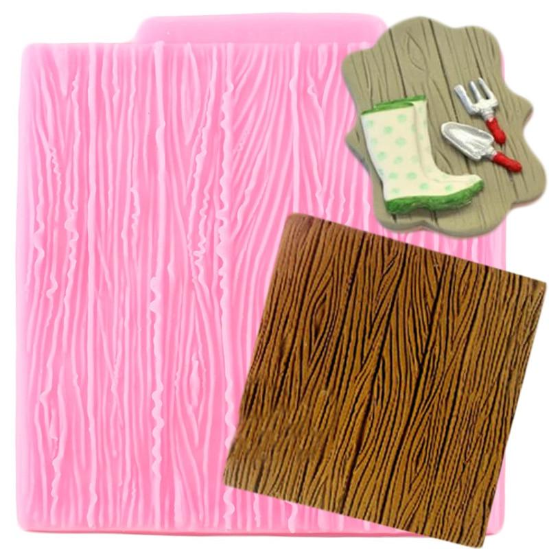 Sugarcraft Tree Bark Texture Wood Pattern Silicone Mold Cake Decorating Tool Cake Border Fondant Mold Candy Clay Chocolate Molds