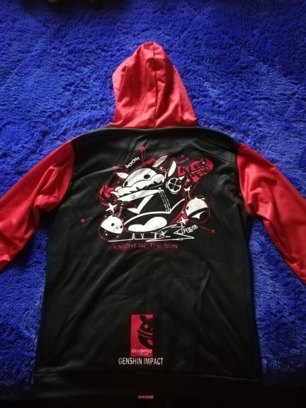 VEVEFHUANG Kосплей Game Genshin Impact Cosplay Costume Hooded Sweatshirt Anime Sports Jacket Velvet Top Klee геншин импакт photo review