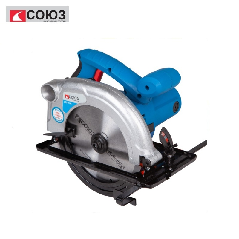 TsPS-51185 Circular saw UNION 1500 W, blade 185 mm Miter saw The Gig saw Carpentry tools for working with wood Longitudinal