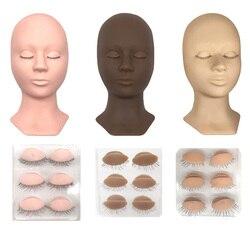 3 цвета, тренировочный манекен, голова манекена, голова куклы, съемные веки, практика, ресницы, наборы расширений, косметическая учебная голо...
