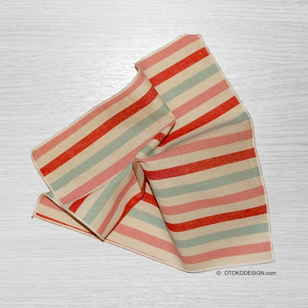 Shawl In A Red Striped Jacket Pocket (50975)
