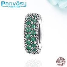 New Jewelry Making Sterling Silver 925 Bead Fit Pandora Charms Silver 925 Original Bracelet 2020 Charm CZ Green Beads DIY Women цена 2017