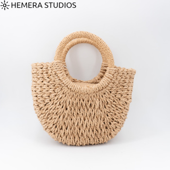 BAG Basket Detail Color Shells Natural BAG Summer Woman 2020 Beach Raffia Jute Braided Straw Bag Rattan BAG Esparto Shoulder