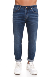 CR7 Jeans for men Dark Blue Casual Jeans Casual Slim Was Thin with Five Pockets CRD001A
