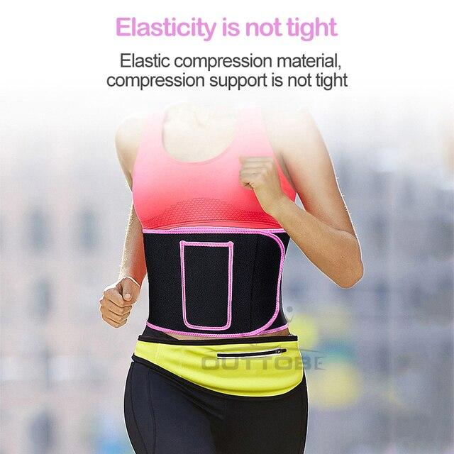 Outtobe Sweat Belt Waist Trimmer Belt Waistband Sports Waist Belt Fitness Belt Sweating Body Abdomen Adjustable Intensive 4