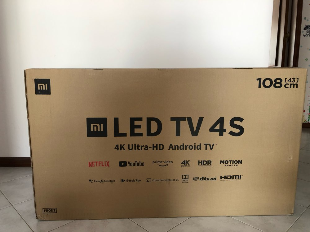 Xiaomi TV 4S 43 inches 4K smart television 2G+8G storage support miracast Netflix DVB T2+C/DVB S2 intellgent LED television|Smart TV|   - AliExpress