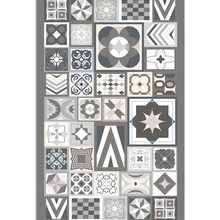 Vinyl Rug Kitchen-Carpet Living-Room Printed Colour Hydraulic-Design Panorama with In-Grey