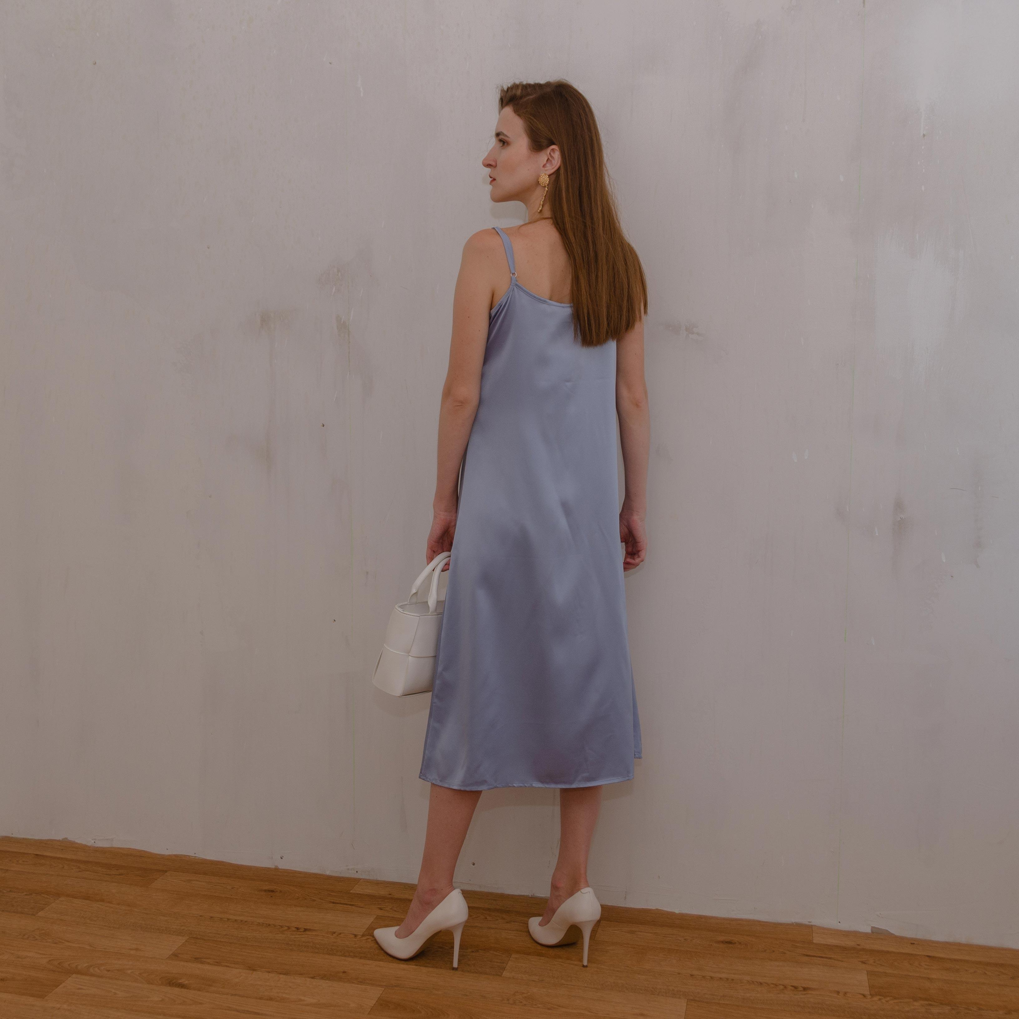 2021 Fashion Women's Dress Summer Spaghetti Satin Long Party Woman Sundress Midi Robe Female Clothing Plus Size S 4XL M30262|Dresses|   - AliExpress