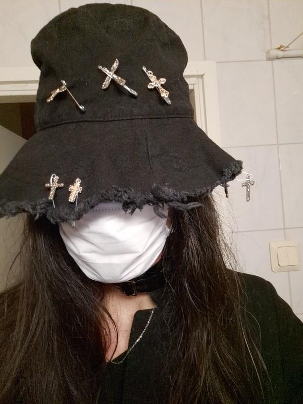 Harajuku Bucket  Hat with Pins photo review