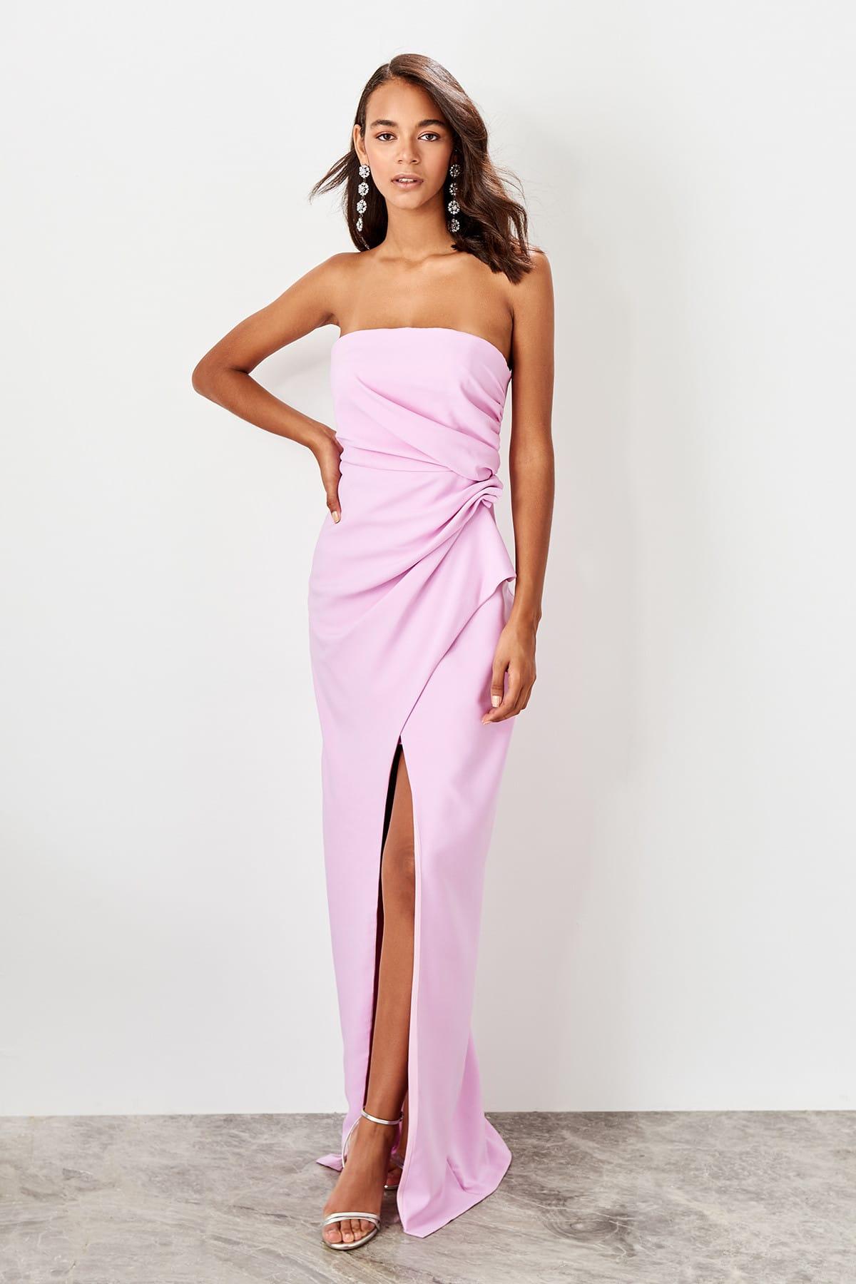 Trendyol Shir Detailed Evening Dress TPRSS19BB0489