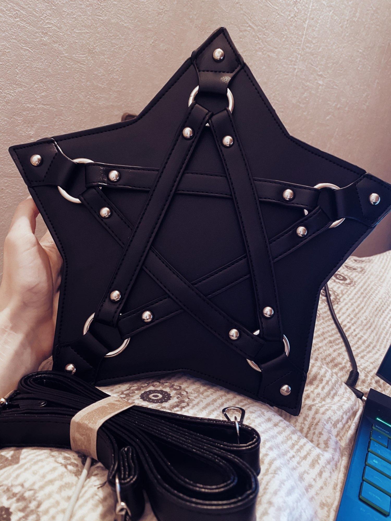 Gothic Pentagram Shoulder Bag photo review