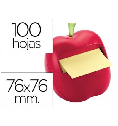 STICKY NOTEPAD DETACHABLE POST IT 76X76 MM APPLE SHAPE WITH DISPENSER