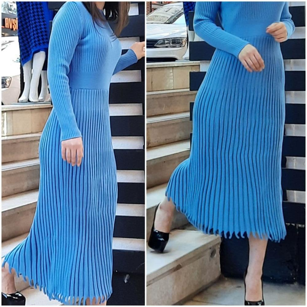 Women Autumn Winter Dress Casual Daily Collection Fashion Turkish Textile Warm Comfortable Tricoat Clothes 2021