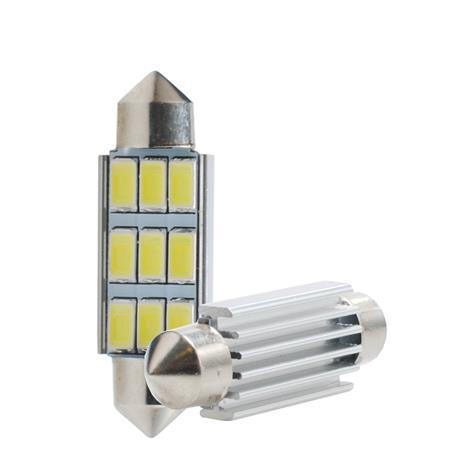Set von 10 und. -LED lamp-C5W 42mm 9xSMD5630 RAD. CANBUS, weiß