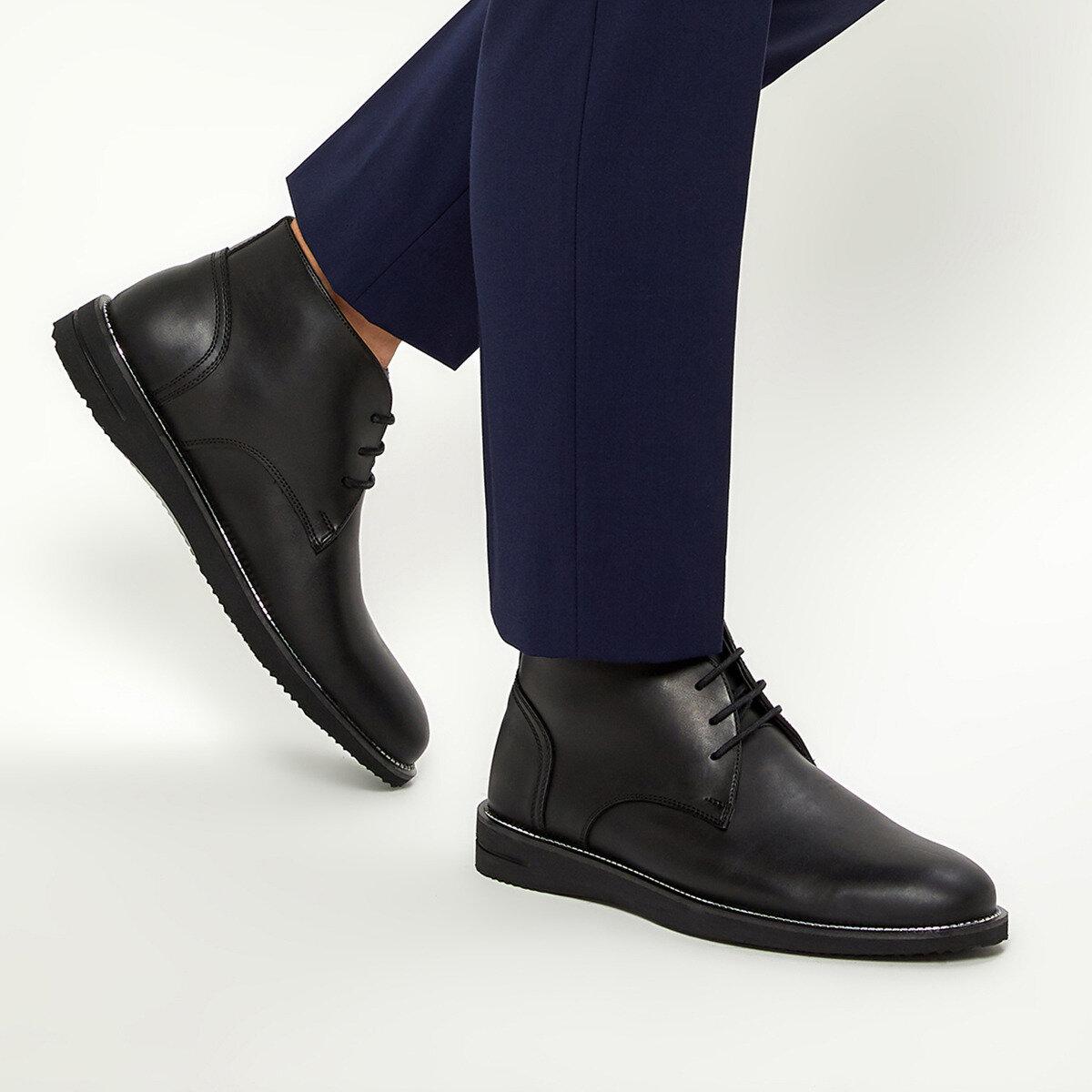 FLO 2192-2 Black Men Boots JJ-Stiller