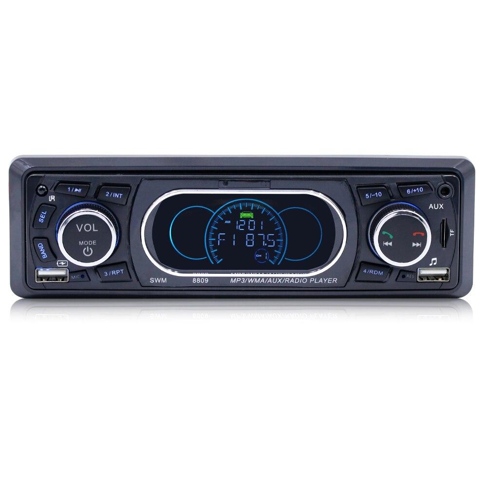 Bluetooth 1-Din Auto Stereo Audio In-Dash MP3 Radio Player Unterstützung USB/TF/AUX/ FM Receiver mit Wireless Remote Controller