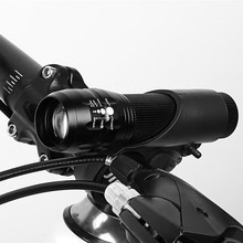 3 Mode Bike Light LED Flashlight Bracket Waterproof 3W 300 Lumens Bicycle cycling Front Lamp Telescopic Focusing Zoom