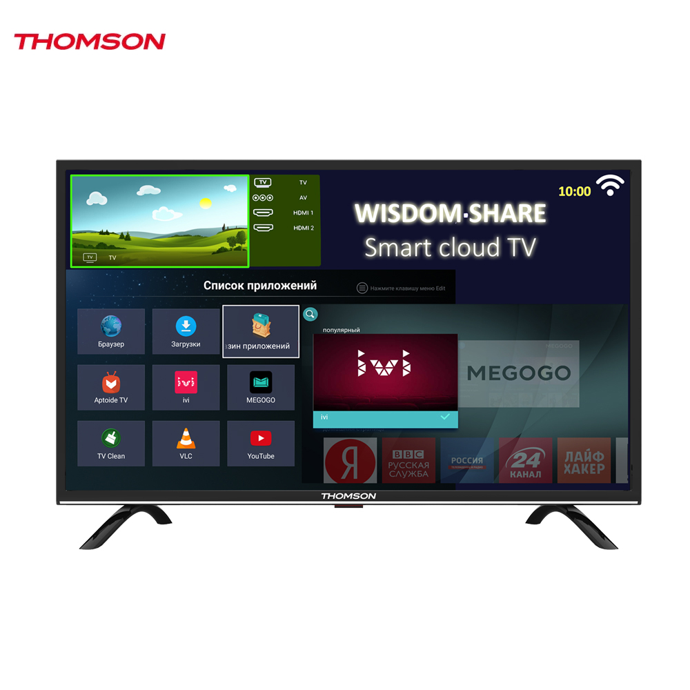 LED Television Thomson 1271594 smart tv for home dvb-t2 digital 28inch thomson t32d19dhs 01b t2 smart