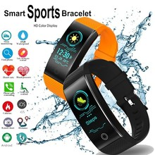 QW18 Smart bracelet Color Screen Heart Rate Monitor Fitness Tracker IP68 Waterproof pedometer rate activity PK Y5