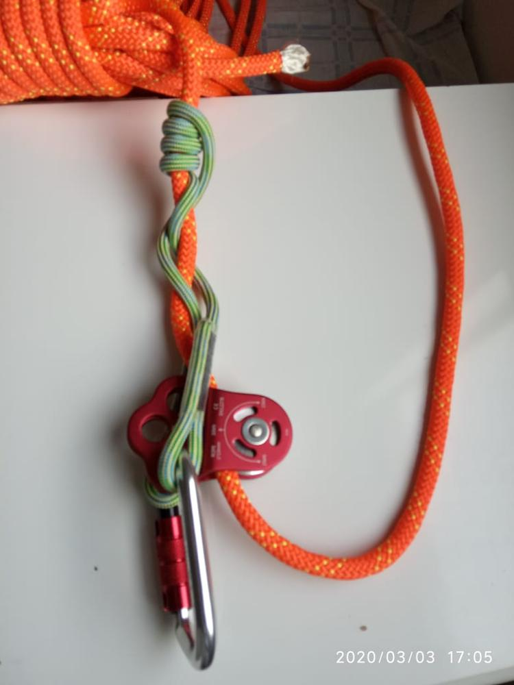 2x Outdoor Climbing 30KN Triple Attachment Pulleys Compatible for 13mm Rope