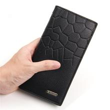 New Luxury Men's Smart Wallet Fashion Embossed Business Long Card Holder Coin Card Wallet Case Male Phone Purses For Men 2020