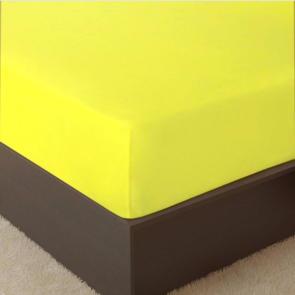 Orderly Terry Sheet On Elastic Band Lemon For Fast Shipping