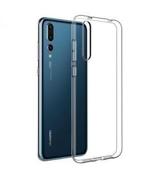 Funda de gel TPU carcasa silicona para movil Huawei P20 Pro Transparente