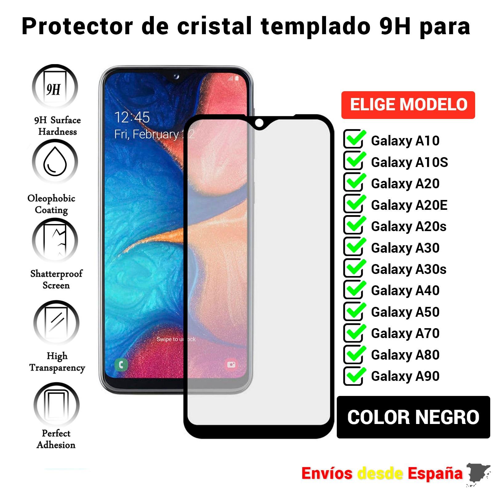 3D полная Защита экрана для Galaxy A10 A10S A20 A20E A20s A30 A30s A40 A50 A70 A80 A90. Черное закаленное стекло Movil