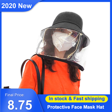 Protective Hat with Transparent Face Shield Mask Men Women Full Face Hat Use Camping Hiking Fishing Travel