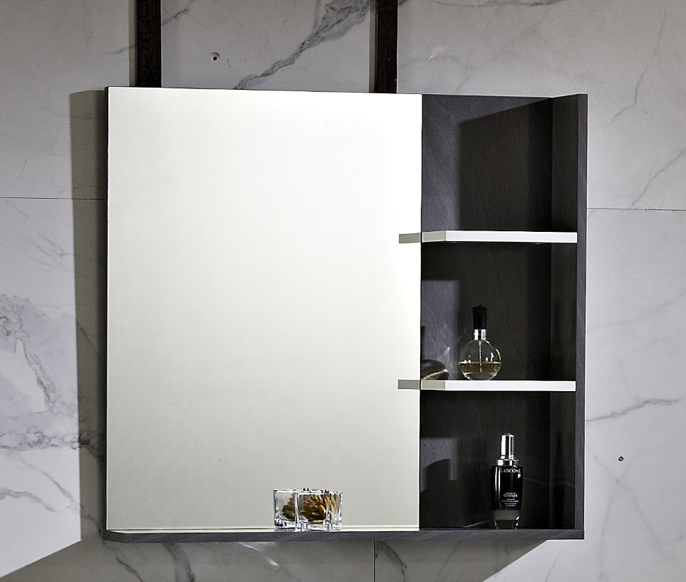 Шкафы с зеркалом для ванной Smart Bird W6060WH-1D