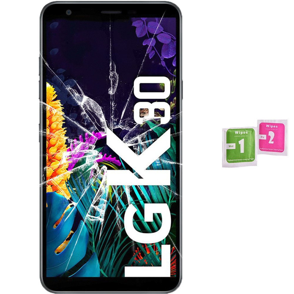 Protector Screen Tempered Glass For For LG K30 2019 (Generico, Not Full SEE INFO) WIPES