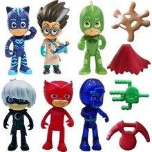 Pijamaskeliler Pjmasks Figure Toys 10 Lu Set Pijamasks Figur 2021 Male Child Gift Game Entertainment