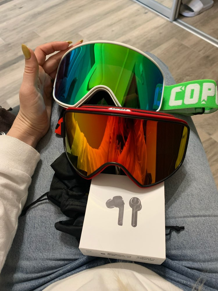 COPOZZ Dual use Ski Goggles with Magnetic Quick change 2 in 1 Lens Anti fog UV400 Night Skiing Snowboard Goggles for Men & Women|ski goggles|ski snowboard gogglessnowboard goggles - AliExpress